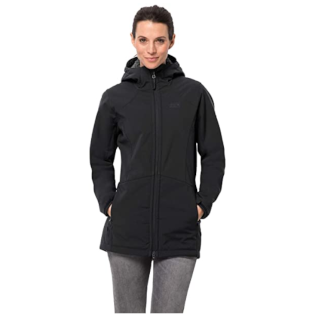 Jack Wolfskin Damen Rock Valley Coat W Mantel schwarz *